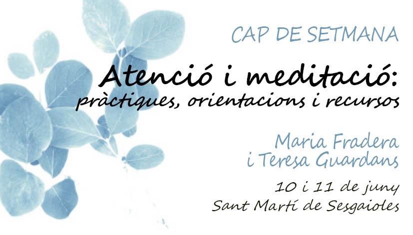 CAP DE SETMANA: ATENCIÓ I MEDITACIÓ
