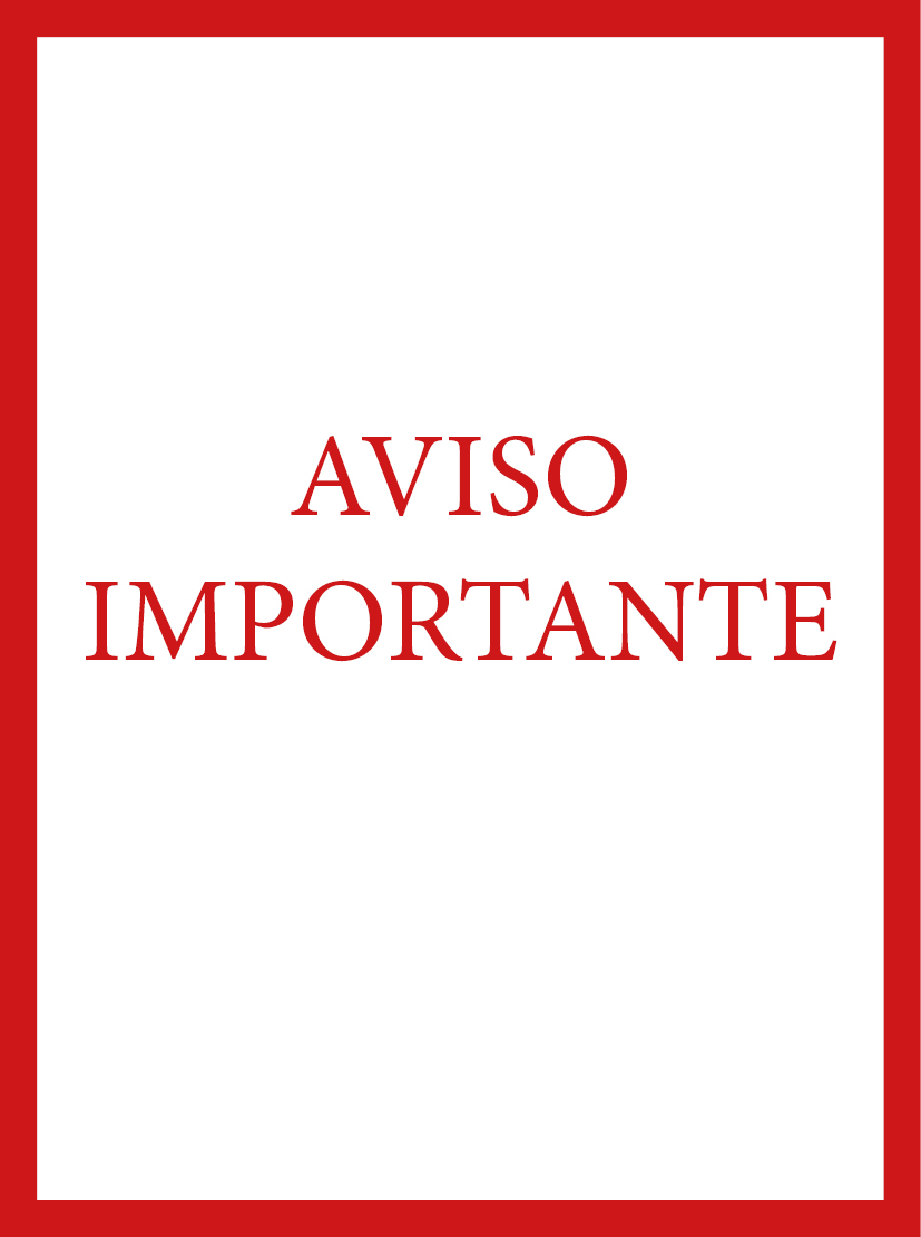 AVISO IMPORTANTE ESP WEB